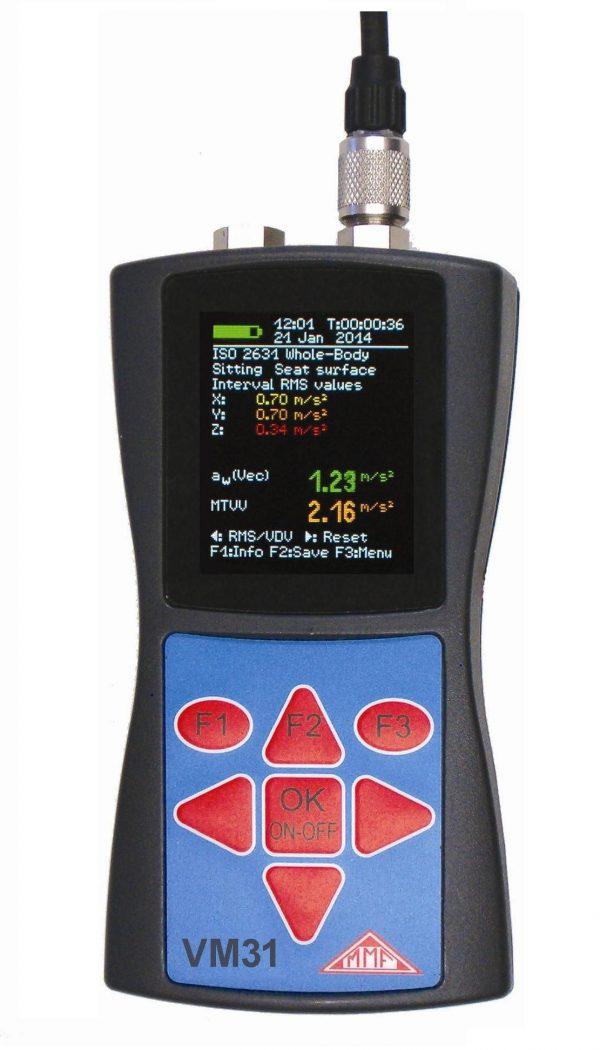 Vibrómetro para cuerpo humano medidor de vibraciones para cuerpo humano METRA VM31