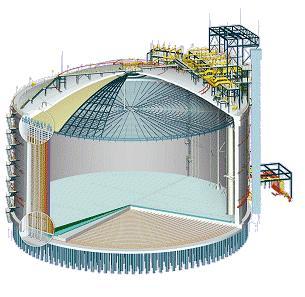 Control de estabilidad y asentamiento en tanques LNG