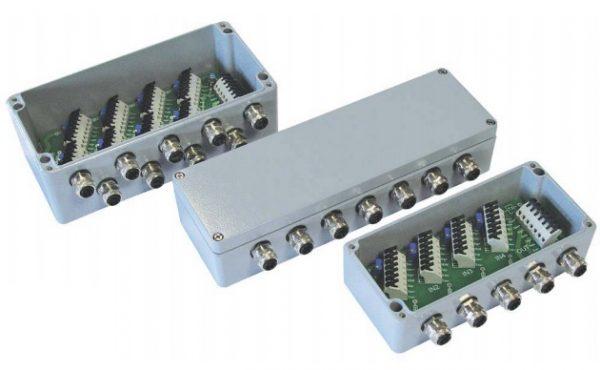 Caja sumadora para células de carga y sensores de fuerza