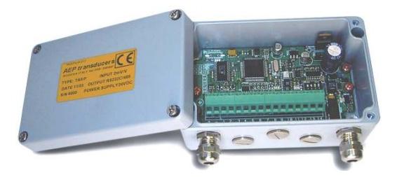 electrónica para célula de carga con salida analógica