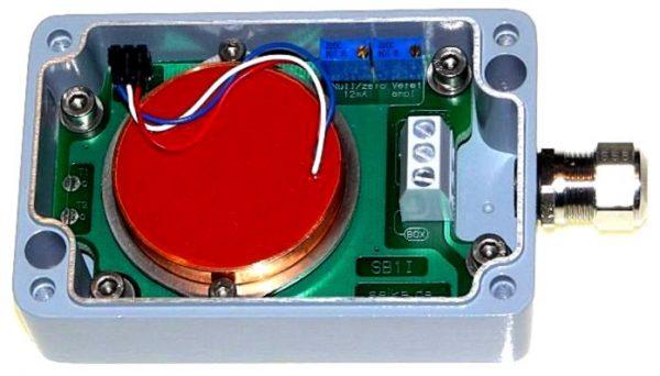 Inclinómetro robusto en caja industrial IP67