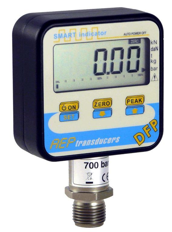 Manómetro digital con pantalla LCD cuadrada