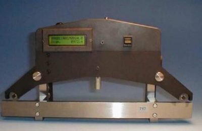 Medida de diámetro de rueda de tren
