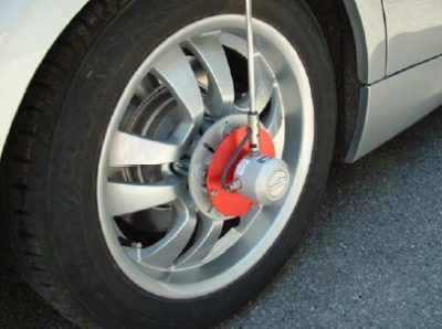 Odómetro portátil para medida de velocidad en rueda