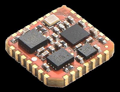 Referencia inercial IMU para la medida de velocidad de giro y aceleración, con diferentes tipos de salidas digitales.