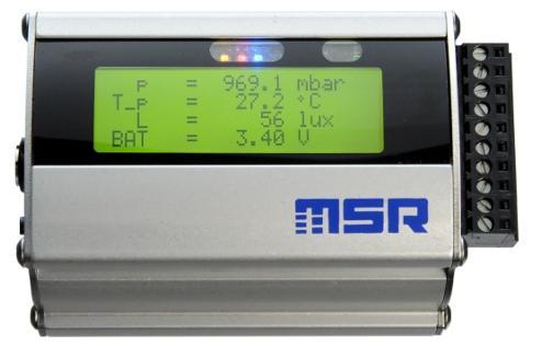registrador de datos compacto con pantalla