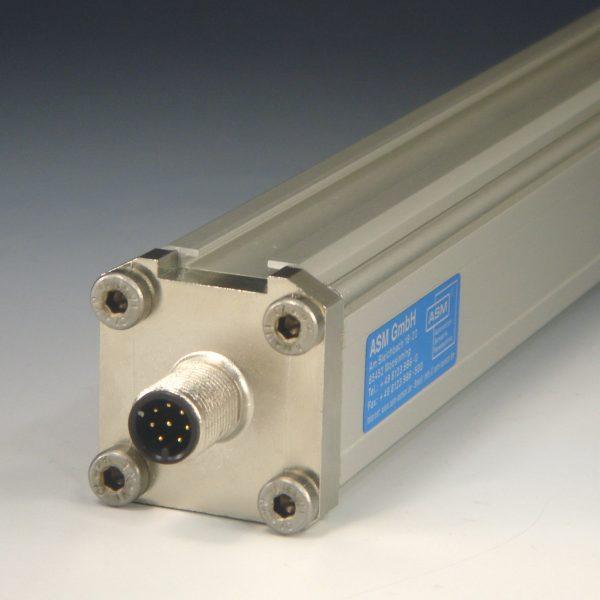 Sensor de posición lineal perfil cuadrado
