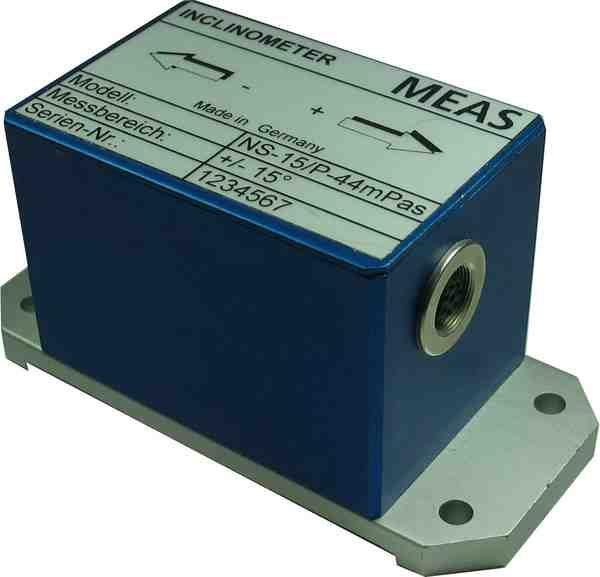 Inclinómetro con salida RS232, voltaje y corriente