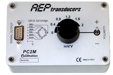 Simulador de célula de carga / puente wheatstone con 6 niveles de sensibilidad 0, 0.4, 0.8, 1.2, 1.6, 2 mV/V, para 350ohm.