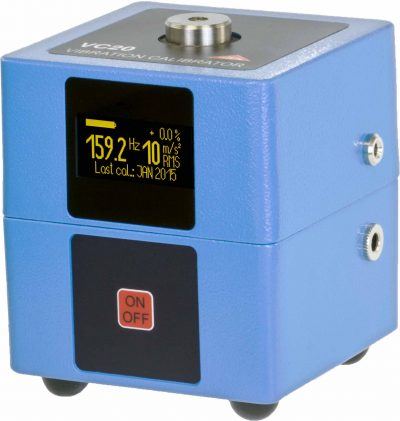 Calibrador de acelerómetros y vibraciones económico METRA VC20