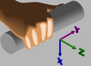 medida de vibración en mano