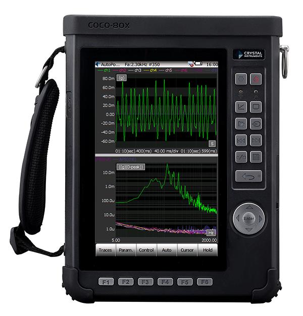 Analizador de vibraciones portátil con hasta 16 canales.