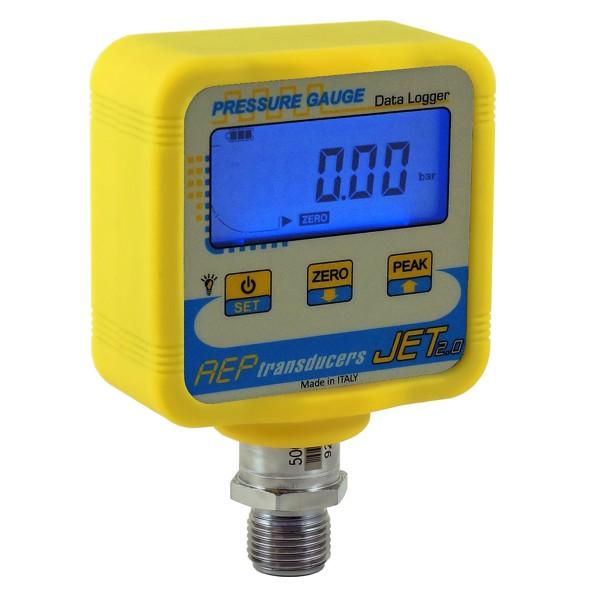 manómetro digital con registro de presión y temperatura