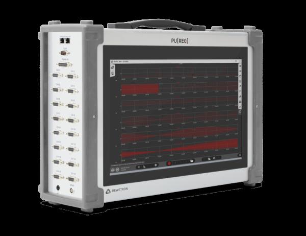 Registrador de datos de altas prestaciones con pantalla táctil y software OXYGEN. Operación sencilla para sus 16 canales multisensor con velocidad hasta 200kS/S.