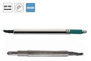 Palpadores de medida para rangos bajos con muy alta precisión. Salida AC. Rangos disponibles en 2, 5, 10 y 20mm. Protección IP65 o IP67 opc.